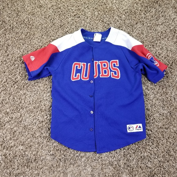 Majestic 10 12 Youth Kids Chicago Cubs Jersey Shor e1960000a